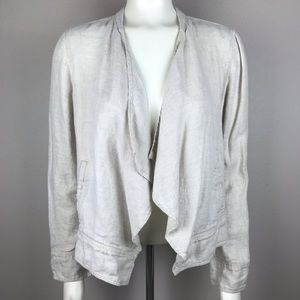 Lou and Grey Open Front Linen Cardagin M